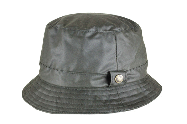 HW77 - Wax Bush Hat - GREEN - Oxford Blue