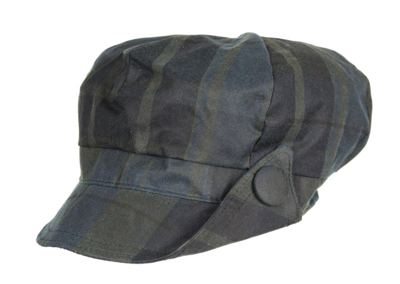 HW90 - Women's Lilly Tartan Wax Hat - Oxford Blue