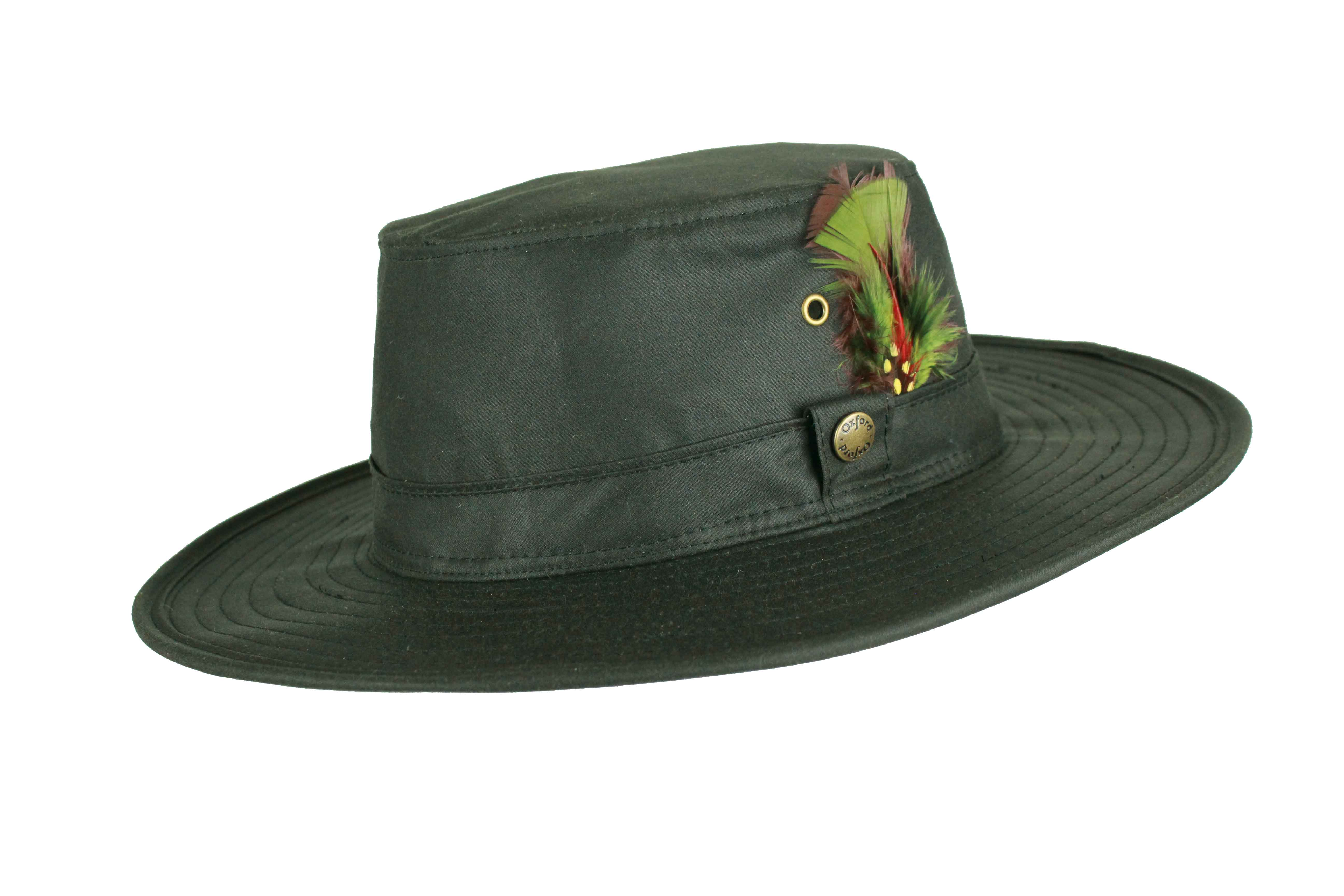HW91 - Aussie Feather Wax Hat - Oxford Blue