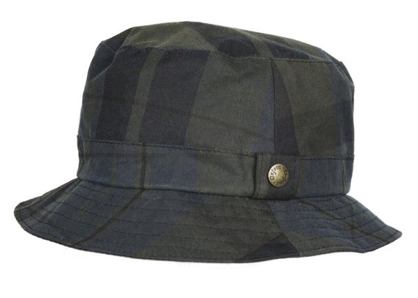 HW95 - Bush Hat Tartan Wax - DUNDEE - Oxford Blue