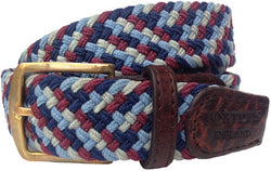 Foxton Woven Elasticated Belt - Oxford Blue