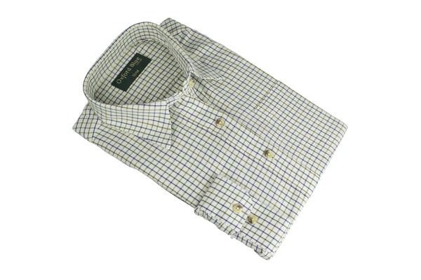 LCS201 - Ladies London Tattersall Shirt - Oxford Blue