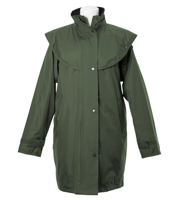 LJ056 - Women's Short Cape Equestrian - OLIVE - Oxford Blue