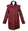 LJ056 - Women's Short Cape Equestrian - WINE - Oxford Blue