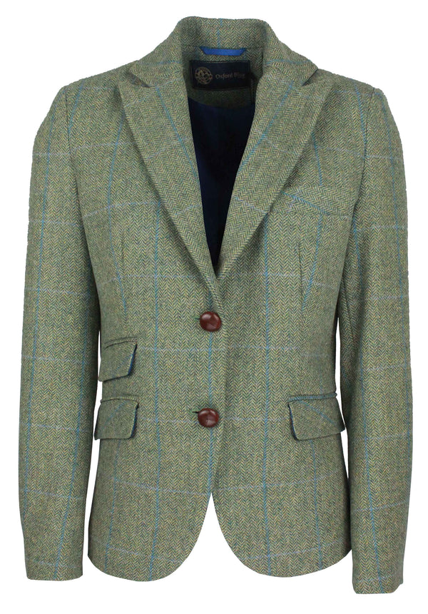 LTW01 - Women's Tweed Blazer - Oxford Blue