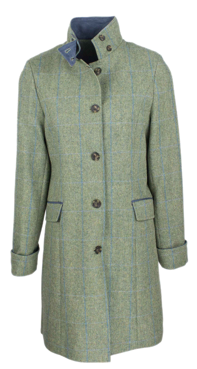 OXFORD BLUE LADIES TWEED COAT LTW06 SEA BLUE