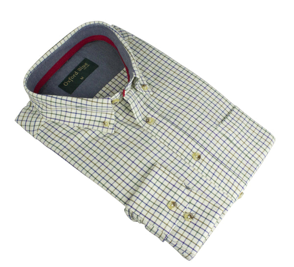 MCS201 - Men's London Tattersall Shirt - Oxford Blue