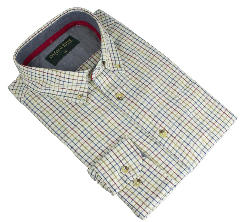 MCS201 London Tattersall Shirt - Red