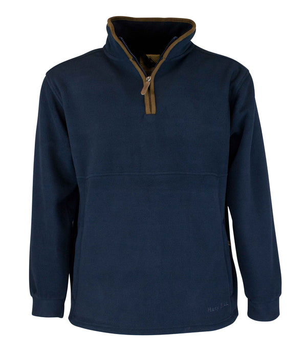 MF101 - Men's Half Zip Fleece - Oxford Blue