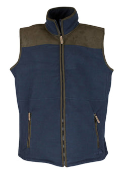 MF104 - Mens Bonded Fleece Gilet - Oxford Blue