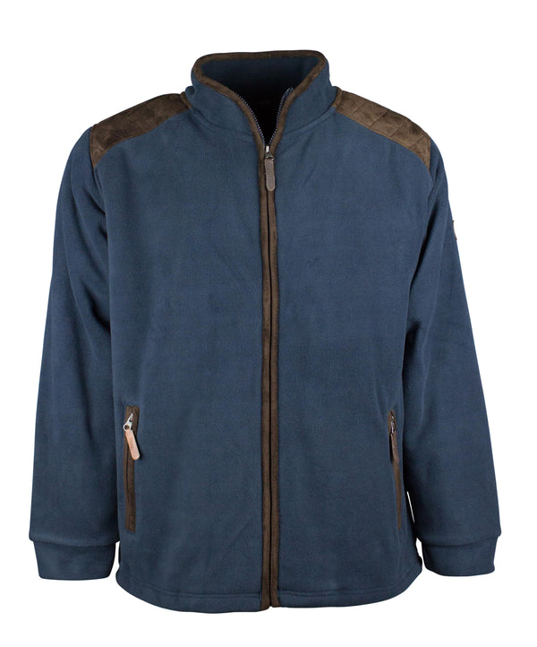 MF106 - Mens Padded Fleece Jacket - Oxford Blue