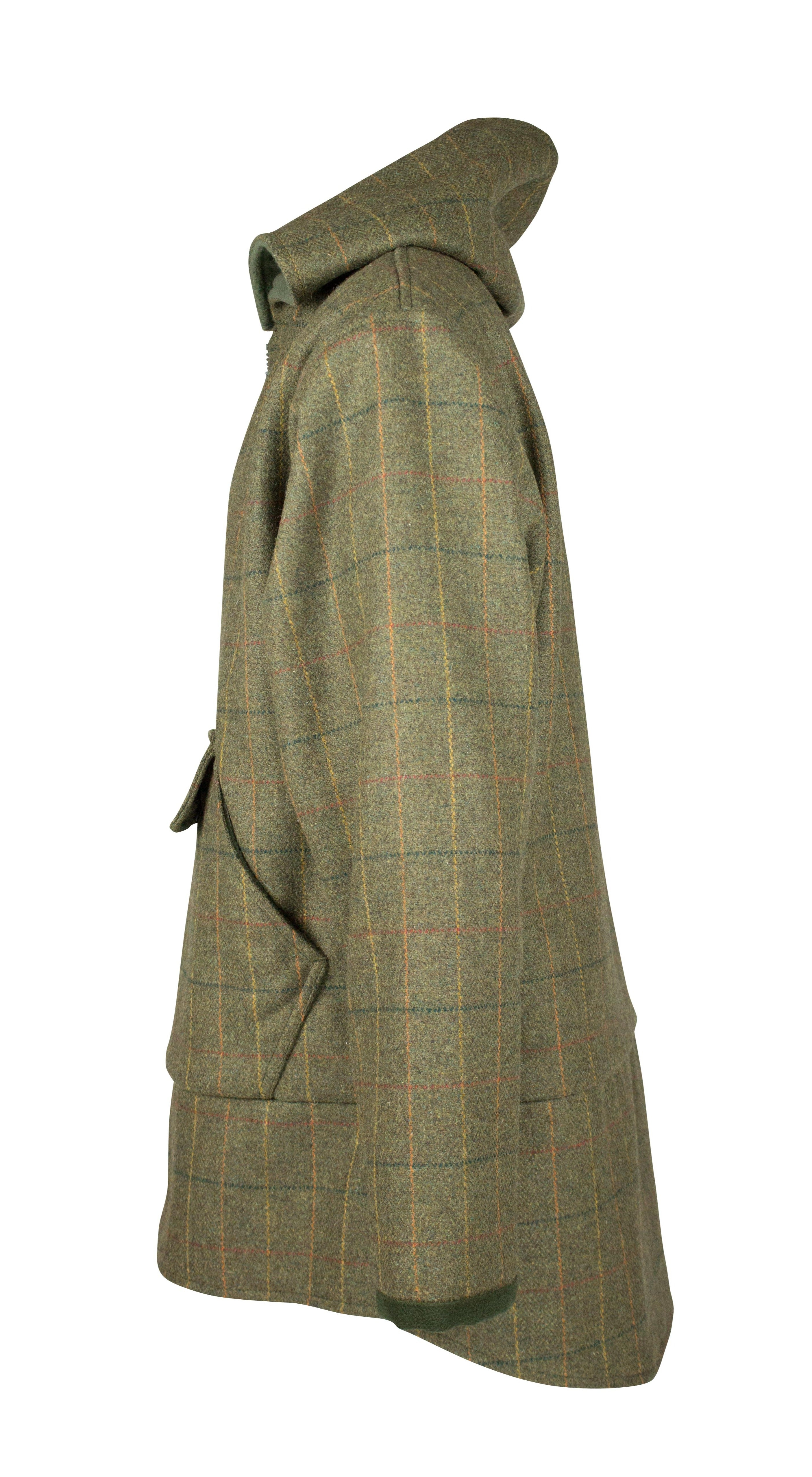 MT11 - Men's Braemer Tweed Smock - GREEN CHECK - Oxford Blue