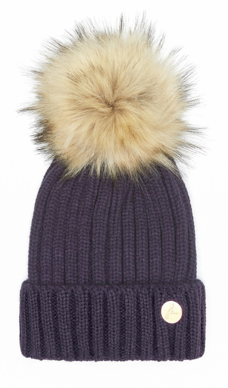 Hortons Meribel pom pom hat navy