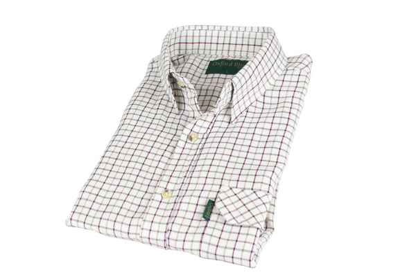 SH1 - Men's Tattersal Shirt - Oxford Blue