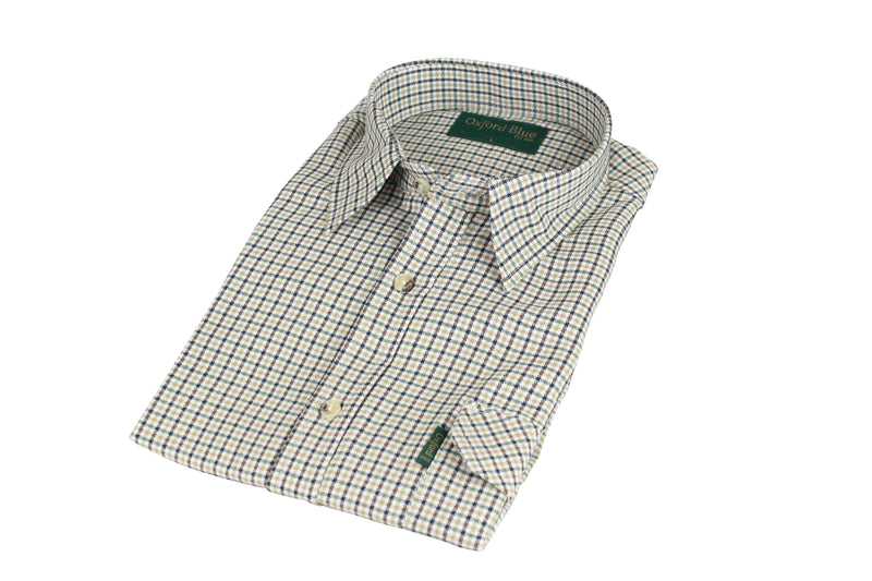SH2 - Men's Dogstooth Shirt - Oxford Blue