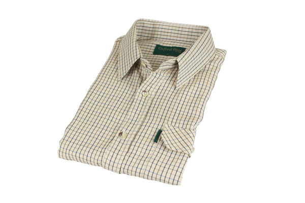 SH27 - Men's York Country Check Shirt - Oxford Blue