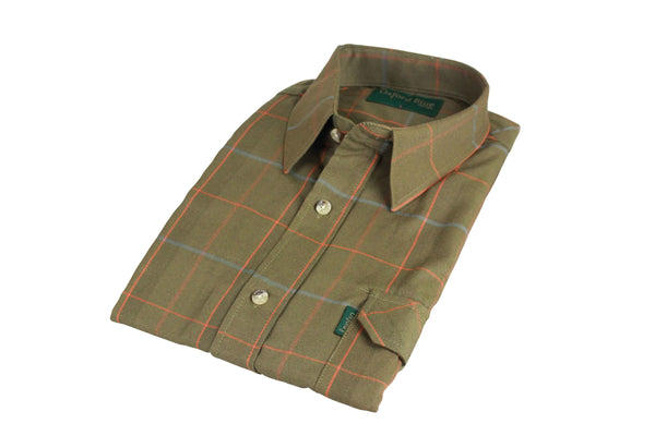 SH28 - Men's Norfolk Tweed Check Shirt - Oxford Blue