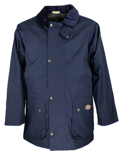 W06 - Men's Hampton Jacket (Staywax) - NAVY - Oxford Blue