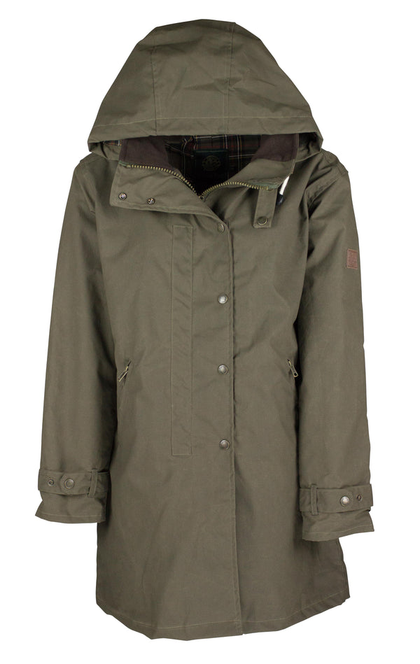 W08 - Ladies Brighton Staywax Millerain Parka - Oxford Blue
