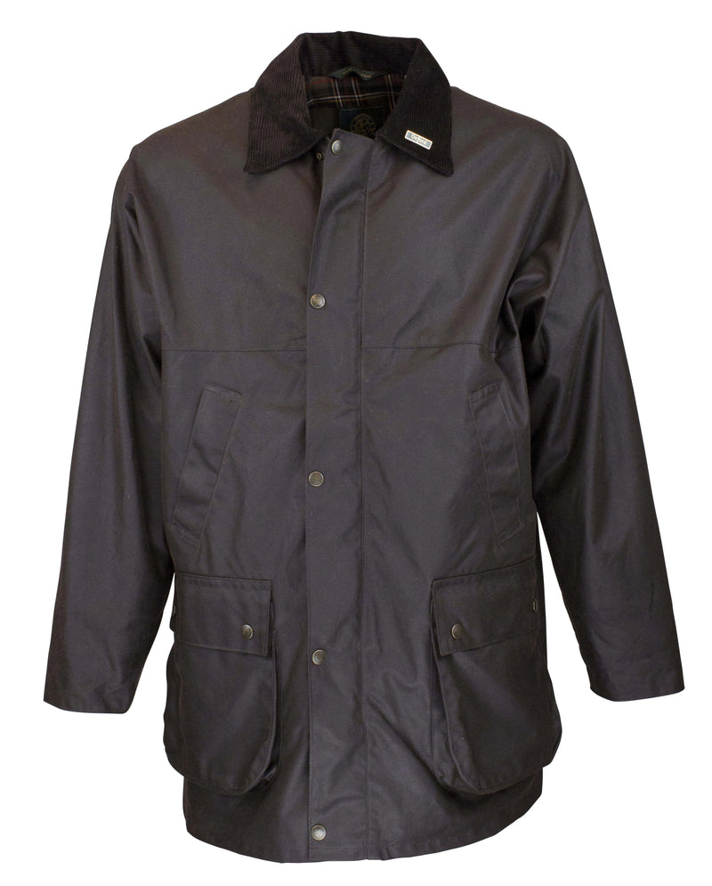 OXFORD BLUE - W1 COUNTRYMAN WAX JACKET BROWN