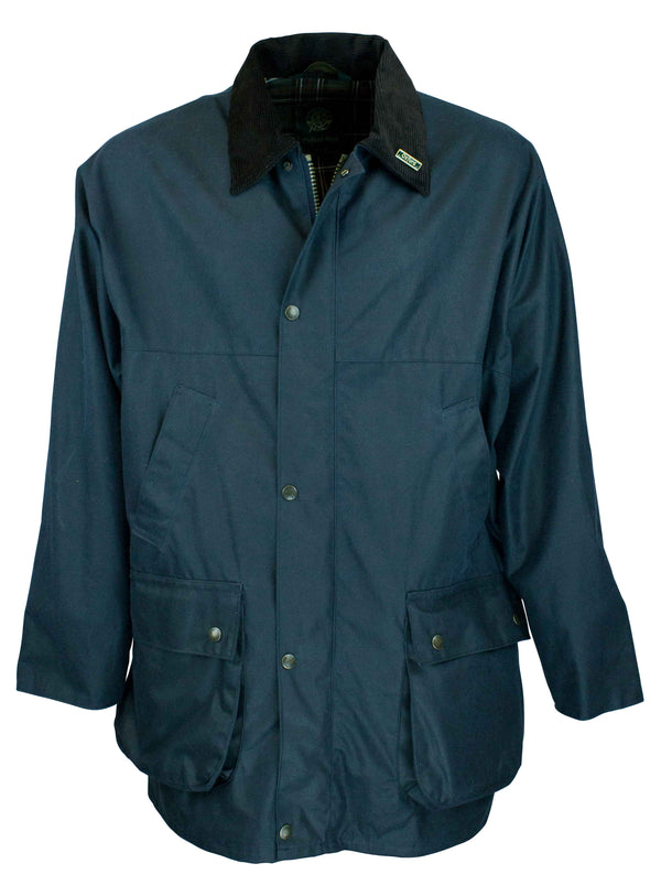 W14 - Men's Countryman Padded Wax Jacket - NAVY - Oxford Blue