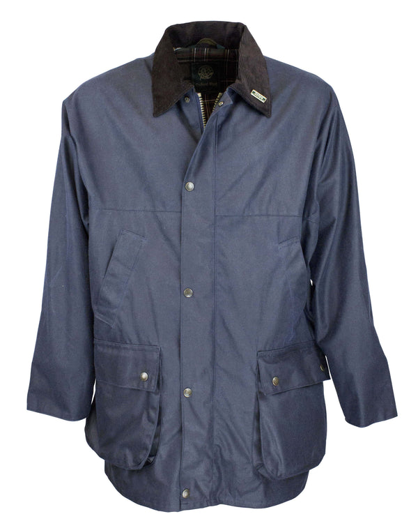 W1 - Men's Countryman Wax Jacket - Oxford Blue