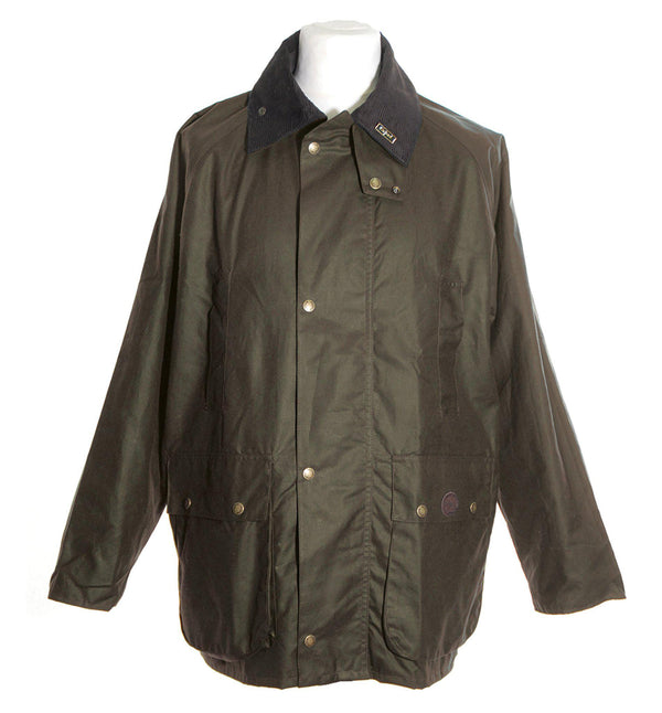 W10 - Burley Wax Jacket (Vented) - BROWN - Oxford Blue