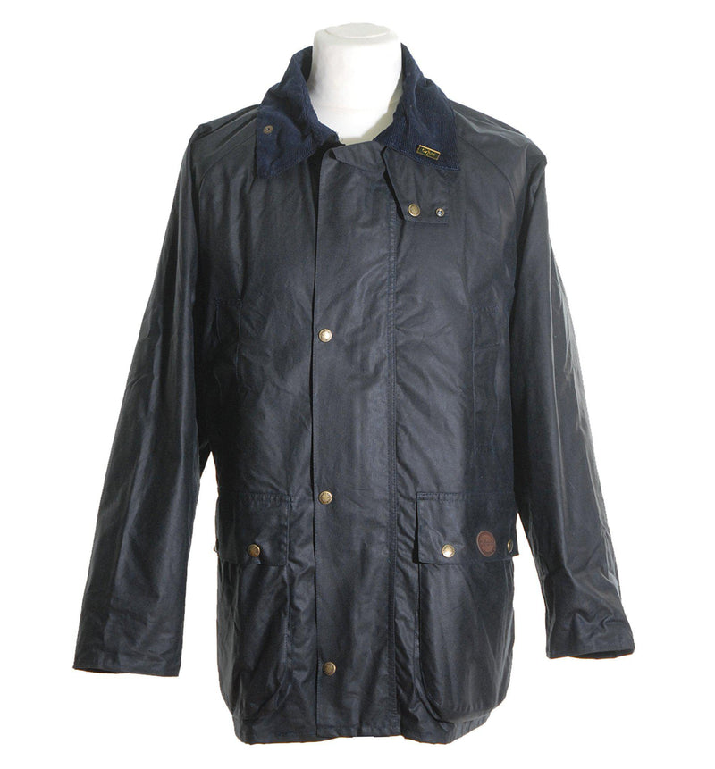 W10 - Burley Wax Jacket (Vented) - NAVY - Oxford Blue