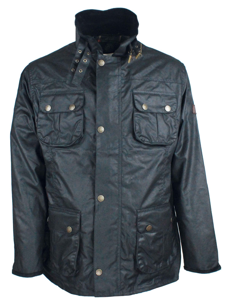 W113 - Mens Biker Wax Jacket