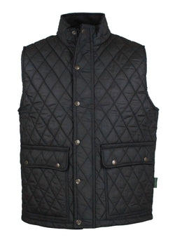 W17 - Men's Kensington Gilet BLACK - Oxford Blue