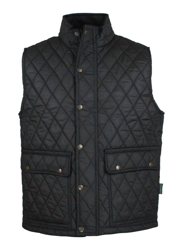 W17 - Men's Kensington Gilet - BLACK - Oxford Blue