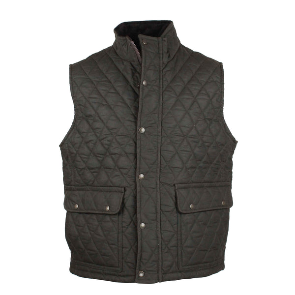 W17 - Men's Kensington Gilet - OLIVE - Oxford Blue