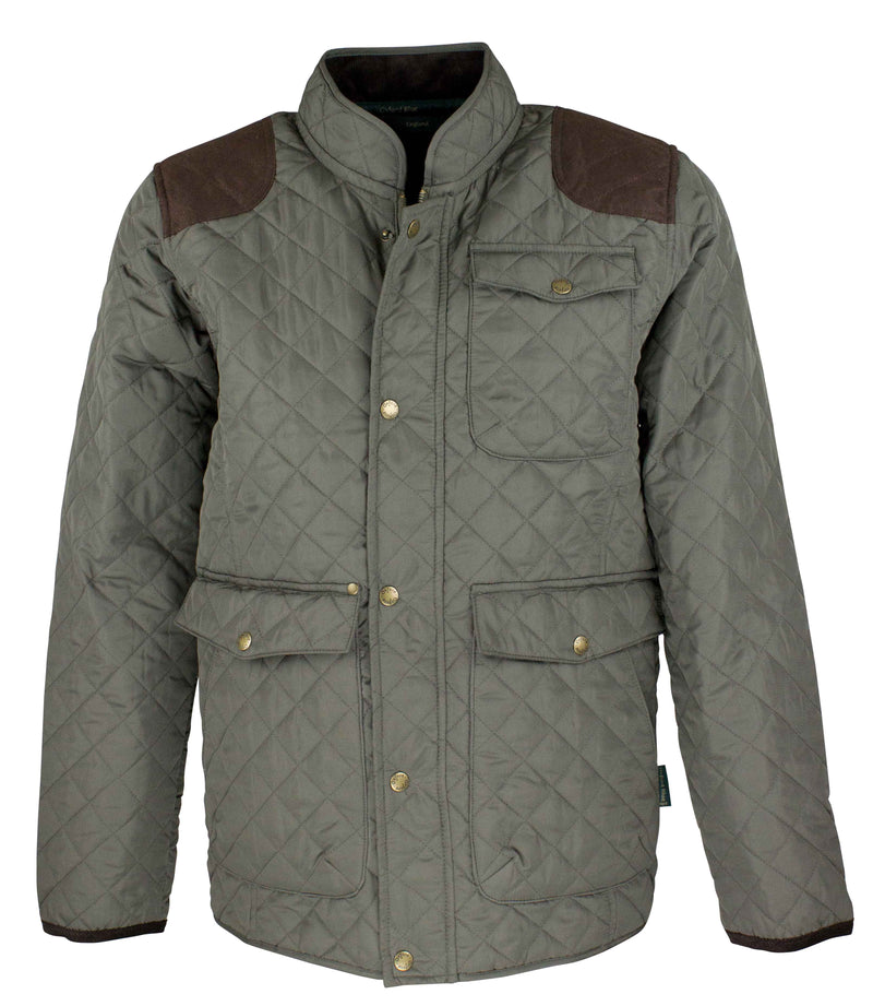 W171 - Men's Thistle Quilted Jacket - Oxford Blue