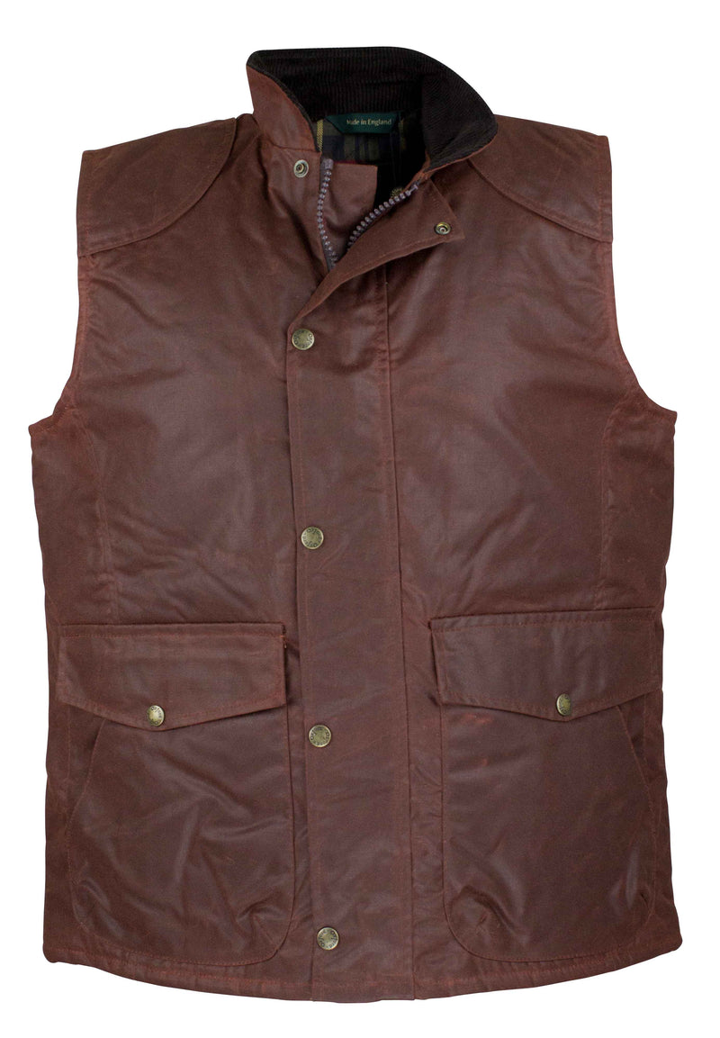 W174 - Men's Antique Wax Chelsea Gilet - Oxford Blue