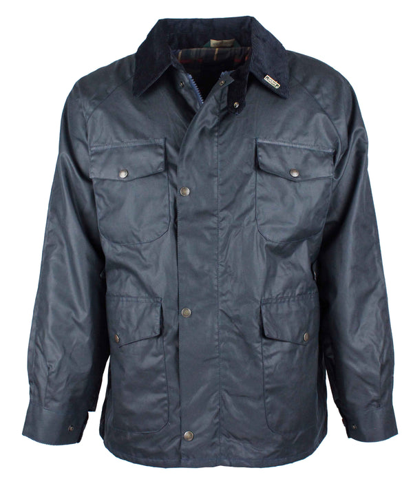 W20 - Men's Balmoral Wax Jacket - NAVY - Oxford Blue