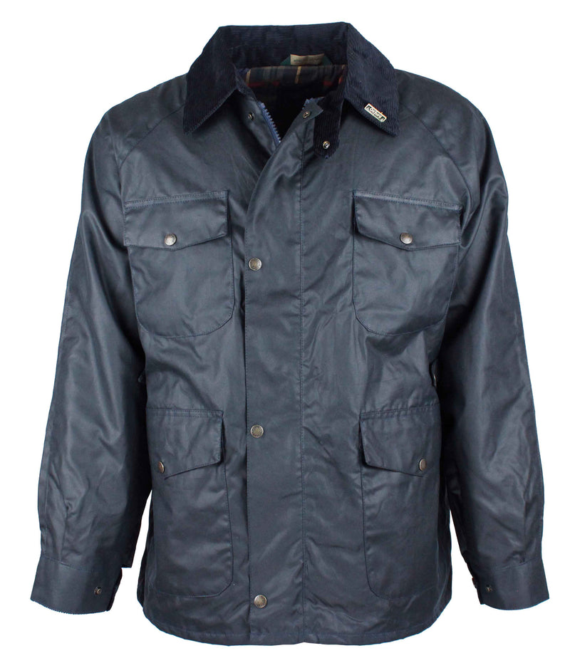 W20 - Men's Balmoral Wax Jacket - Oxford Blue