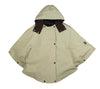W22 - Ladies Cotton Hooded Cape - BEIGE - Oxford Blue