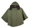 W22 - Ladies Cotton Hooded Cape - OLIVE - Oxford Blue