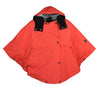 W22 - Ladies Cotton Hooded Cape - ORANGE - Oxford Blue