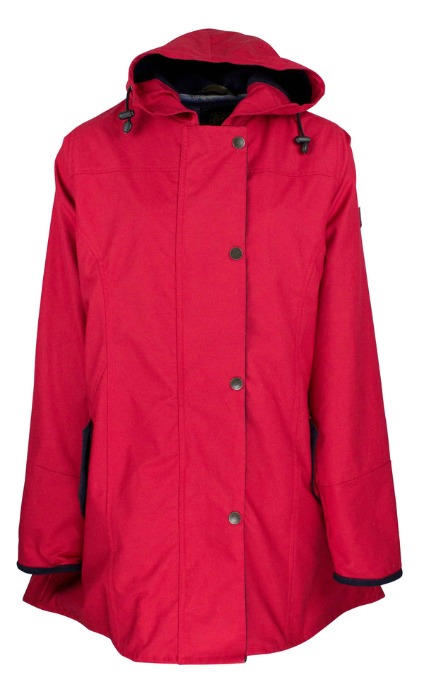 W236 - Women's Hooded Katrina Discovery - RED - Oxford Blue