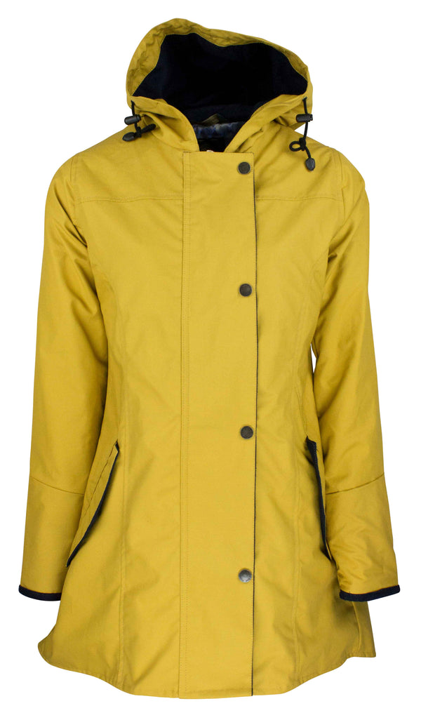 W236 - Women's Hooded Katrina Discovery - MUSTARD - Oxford Blue
