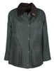 W24 - Women's Countrygirl Wax Jacket - GREEN - Oxford Blue