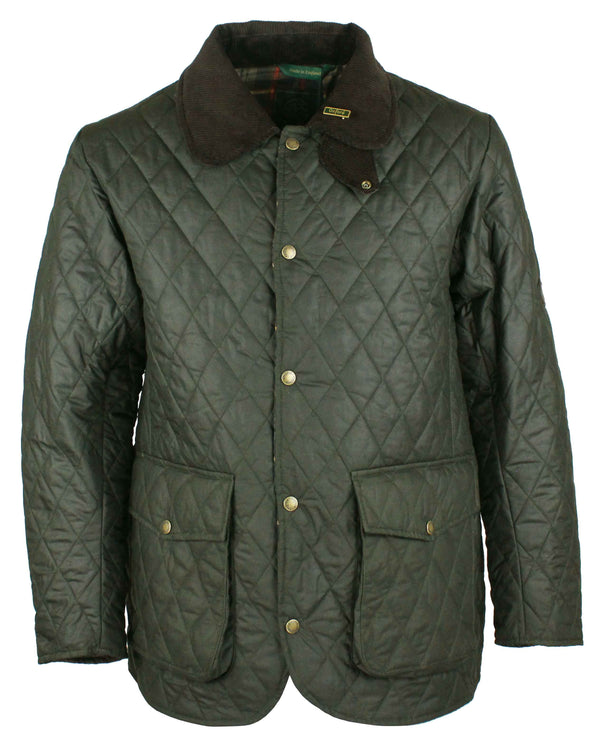W25 - Quilted Mens Wax Jacket - Oxford Blue