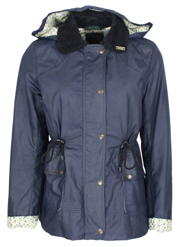 W307 - Women's Breathable/Waterproof Wax Jacket - BLUE - Oxford Blue