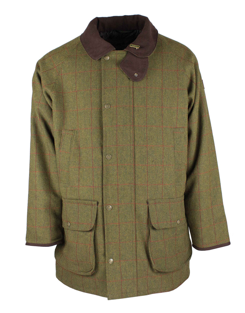 W37 - Men's Brampton Raglan Tweed Coat - DARK GREEN (5907/51) - Oxford Blue