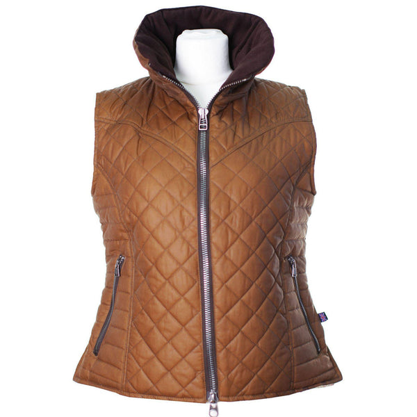 W43 - Women's Brooklyn Wax Gilet - Oxford Blue