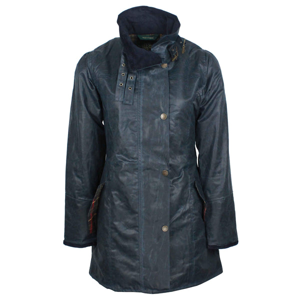 W47 - Women's Katrina Waxed Jacket - NAVY - Oxford Blue