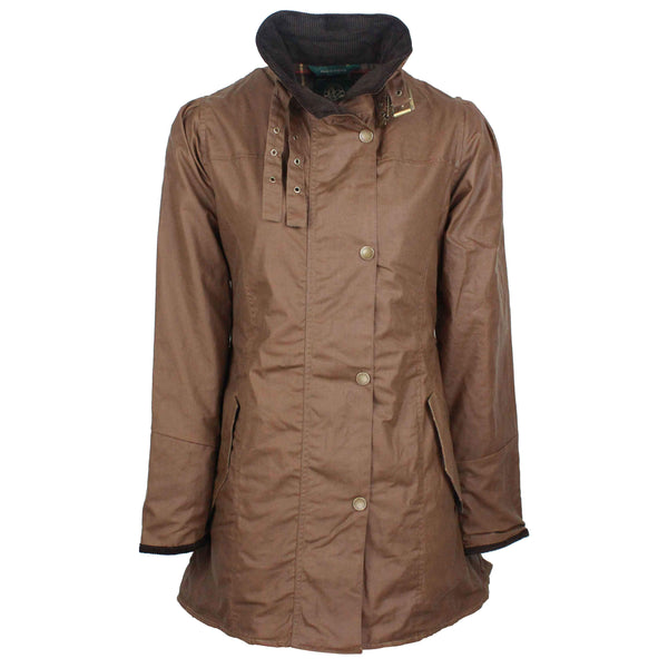 W47 - Women's Katrina Waxed Jacket - SAND - Oxford Blue
