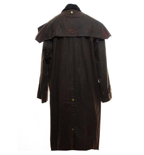W73 - Men's Brown Hobart Wax Cape inc Detachable Hood