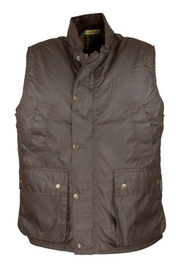 W84 - Men's York Gilet - BROWN - Oxford Blue